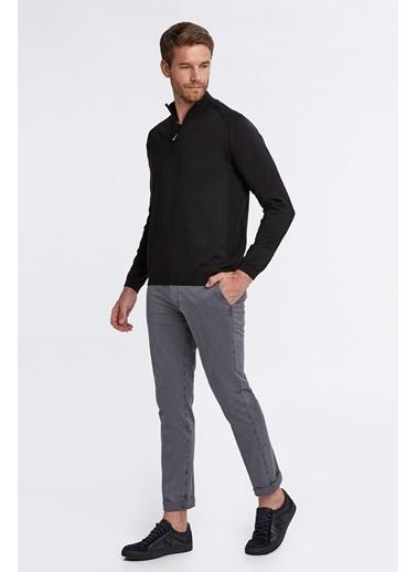 Hemington Fermuarlı Merino Yün Activewear Triko Siyah